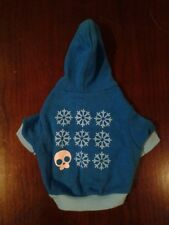 Cute Blue Cat / Small Dog Hoodie ExC Snowflakes Skull Emo Pet Goth Adorable Warm