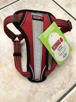 "KONG Red Reflective Comfort Padded Dog Harness girth 16-24"" SMALL NWT"