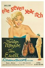 VINTAGE THE SEVEN YEAR ITCH MOVIE POSTER A4 PRINT