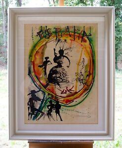 Salvador Dali - orig. Grafik - Espana - Handsigniert - Gerahmt