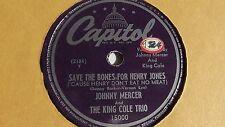 Johnny Mercer - 78rpm single 10-inch – Capitol #15000 ...Bones From Henry Jones