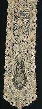 Antique 1800's Hand Made Lace Point de Gaze and Bobbin Lace Lappet !!