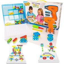 Drill 'n Create Model Building Construction Kit Childrens Tools & Nuts Toy Set