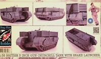 Ding-Hao 1:35 British Churchill Tank With Snake Launcher Model Kit