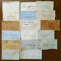 US 1840s STAMPLESS COVER LOT NEW YORK NIAGARA FALLS HOTCHKISS CORR NICE!