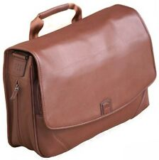 Mosaic™  Italian Brown Napa Leather Expandable Messenger Bag