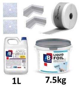 Waterproof Tanking Kit Shower Sealing Set with Primer 7.5kg Liquid Foil Membrane