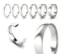 950 Platinum Court Shaped Wedding Rings Medium 2mm 3mm 4mm 5mm 6mm Bands J-Z+3