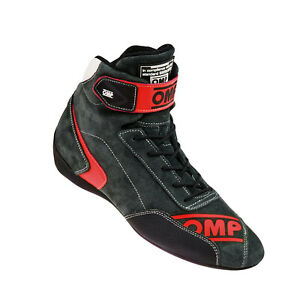 OMP FIRST EVO Racing Shoes Black/Red FIA (EUR 40)