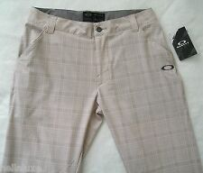 nwt~Oakley TELFAIR PLAID Pant Golf Ohydrolix UV Protection Trousers~Men sz 36/32