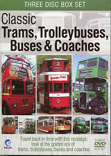 CLASSIC TRAMS, TROLLEYBUSES, BUSES & COACHES - 3 DVD BOX SET TRAVEL BACK IN TIME