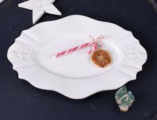 Servierplatte Kuchenplatte Monogramm Kuchenteller WEISS Porzellan