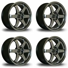 4 x Rota Grid Drift Hyper Black Alloy Wheels 18x9.5"