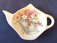 Bell with Flowers Wedding New Handmade Ceramic-Porcelain Tea Bag Spoon Rest