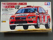 Vintage TAMIYA 1/10 MITSUBISHI LANCER EVOLUTION WRC w/ Drivers #58286