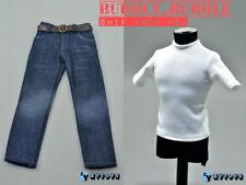 "1/6 Man Clothes Custom Wolverine White Base Shirt Jeans Belt Set For 12"" Figure"