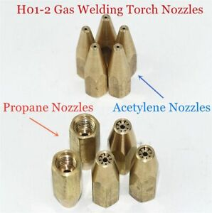 Gas Brazing Torch 5pcs Nozzle Oxygen Propane Acetylene Liquified Soldering Tools