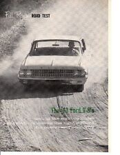 1961 FORD GALAXIE 390/300 HP ~ ORIGINAL 5-PAGE ROAD TEST / ARTICLE / AD