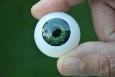 Ojos para muñeca 30 mm verde  reborn bjd ooak dollfie manualidades nancy