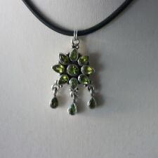 "Handmade Less than 13"" Peridot Fine Necklaces & Pendants"