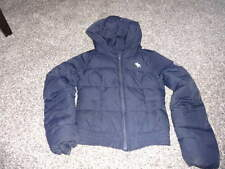 ABERCROMBIE GIRLS M MEDIUM NAVY BLUE WINTER COAT FEATHER/DOWN FILLED