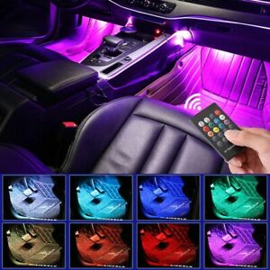 4X RGB LED Fußraumbeleuchtung Innenraumbeleuchtung Auto Ambientebeleuchtung TOP