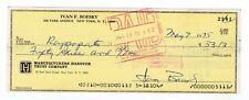 Ivan Boesky Signed Bank Check