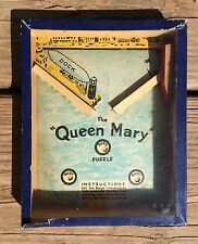 Mid-Century Queen Mary Cruise Ship Liner Steel Ball In Hole Game Toy London