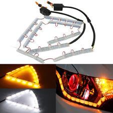 2x 16 Led Amber/White Flexible Switchback Turn Signal Strip Light Headlight Deco