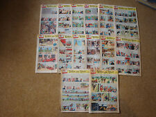 1958 Tintin Journals with Tintin in Tibet - sold individually - No.39-53.