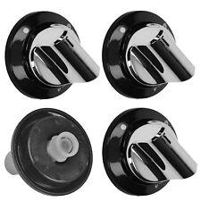 FLAVEL ML61NDK ML61NDSP MLB51NDS Hob Flame Burner Switch Knob Silver / Black x 4