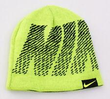 Nike Reversible Volt & Black Beanie Skull Cap Youth Boy's 8-20 NWT