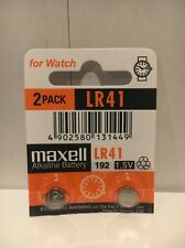 Maxell Lr41 2 Battery Ag3 192 Pack Cell Batteries Button Watch Alkaline New 392