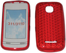 For Nokia Asha 311 / 3110 Pattern Soft Gel Case Cover Protector Pouch Red New UK