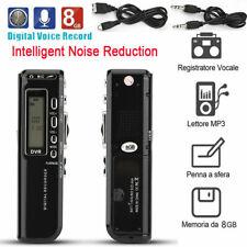 Recargable Sonido Audio Digital Grabadora De Voz Dictaphone teléfono reproductor de MP3