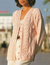Knitting Pattern Lady's DK Cable Cardigan 76-112 cm (85)