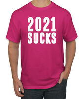 2021 Sucks Funny Virus Quarantine Pandemic Pop Culture Men's Graphic T-Shirt