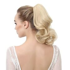Womens Claw Thick Wave Curly Pony Tail Short Ponytail Clip In On Hair Extensions