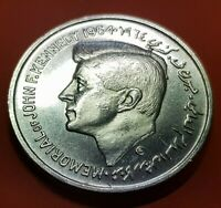 UAE SHARJAH 5 RUPEES 1964 UNC SILVER COIN RARE MEMORIAL OF JOHN F. KENNEDY KM.1