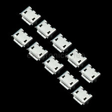 100 Pcs Micro USB Type B Female 5 pin SMD 4 pin Legs DIP Socket Connector