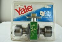 Yale Door Knob Hall Closet Passage Set Vintage Brand New Still Sealed