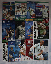 More details for england v france rugby programmes 2001 to 2015 good+++ condition