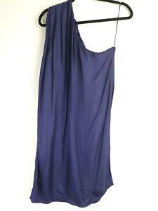 Satch Dress Size 12 Purple Off the Shoulder Blouson cocktail Dress