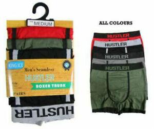Mens Boxer Shorts 3 Pairs Seamless Trunks Adults Briefs Designer Underwear