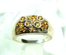 VINTAGE Anello Sterling argento 925 Topaz FLORAL Ø 19,7 mm * Design Jewelry la luna