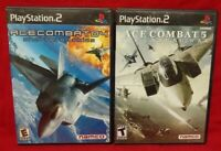 Ace Combat 4 + 5 Lot ~ Playstation 2 PS2 Game Complete Tested + Working 1 Owner