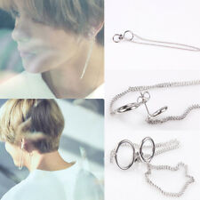 2pcs Fashion Tassel Chain Earring Korean Bangtan Boys V BTS Stud Earring Jewelry