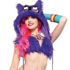 "NEW LEG AVENUE Purple ""FURRY NIGHT OWL"" Hood- SALE"