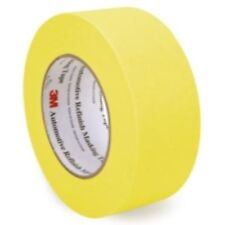 3M 06656 Crepe Paper Automotive Refinish Tape 2 Inch, 6 Pack, Yellow