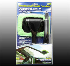 Windshield Wonder Car Glass Cleaner Demister Wiper Handle Wand Cloth Microfiber